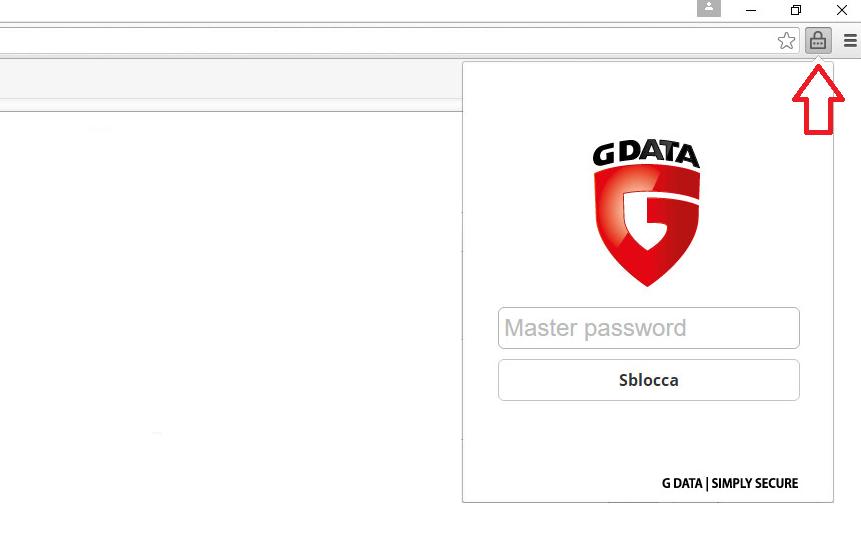 Come impostare il password manager di g data - Bloccare apertura finestre chrome ...