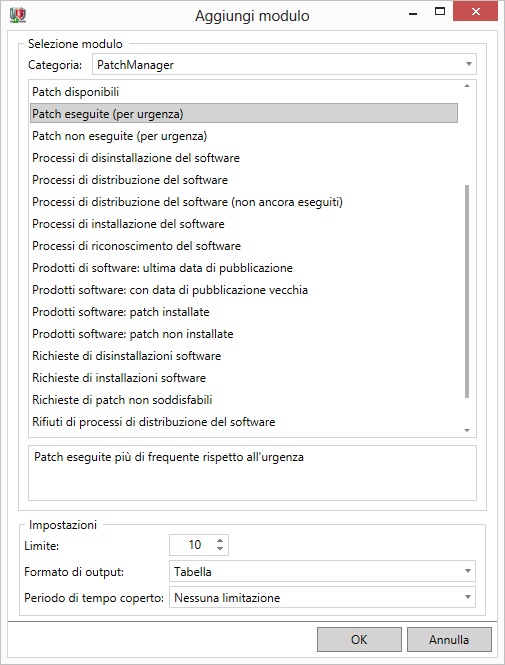 G DATA Patch Management – Richiesta dei rapporti